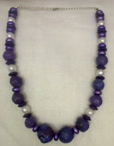 Purple necklace in winter